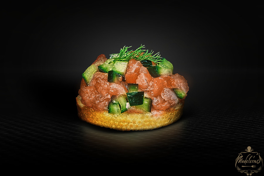 Bruschetta with Salmon and Cucumber
