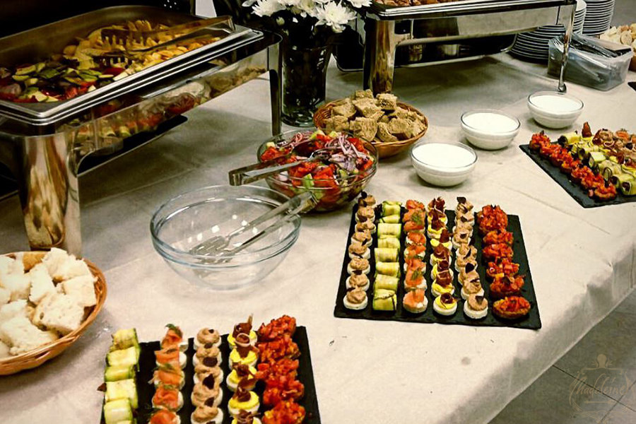 A Variety of Different Canapes on the Plate